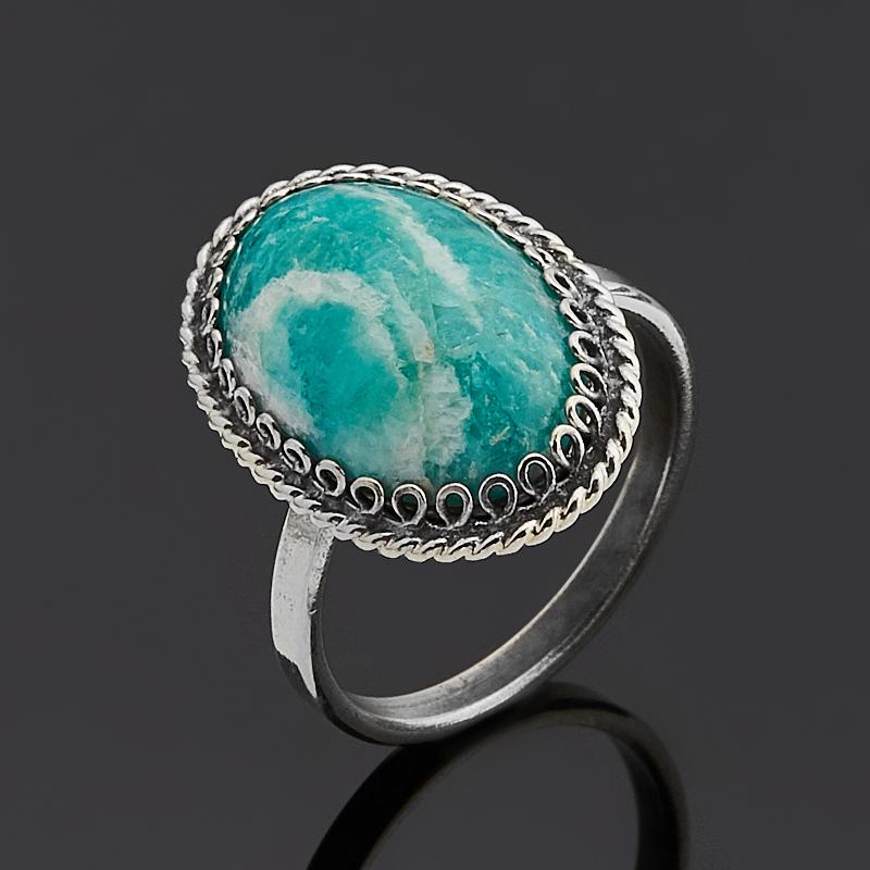 Кольцо амазонит (нейзильбер) размер 16,5