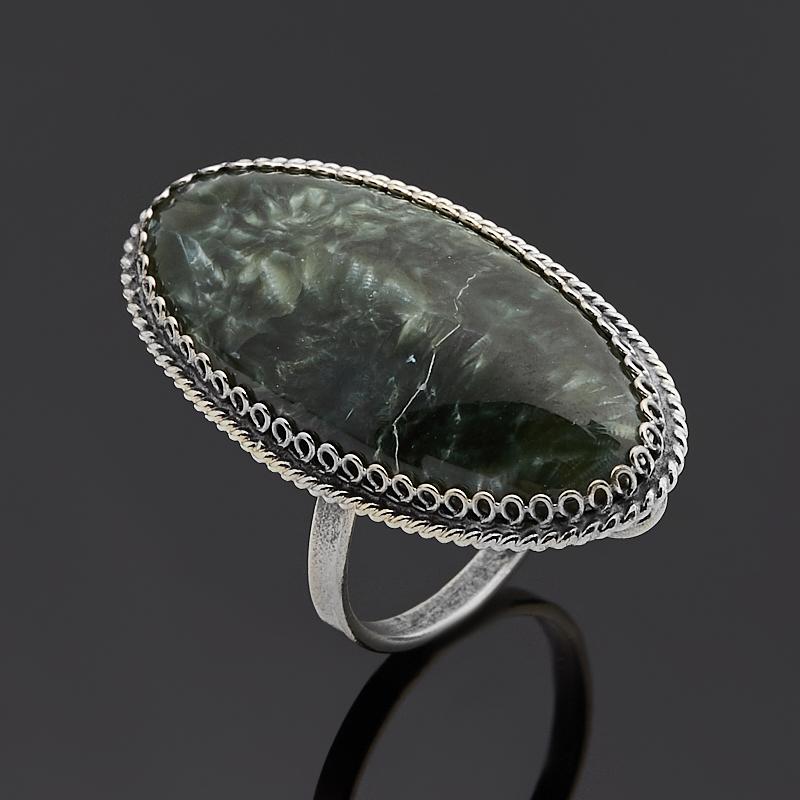 Кольцо клинохлор (серафинит) (нейзильбер) размер 18