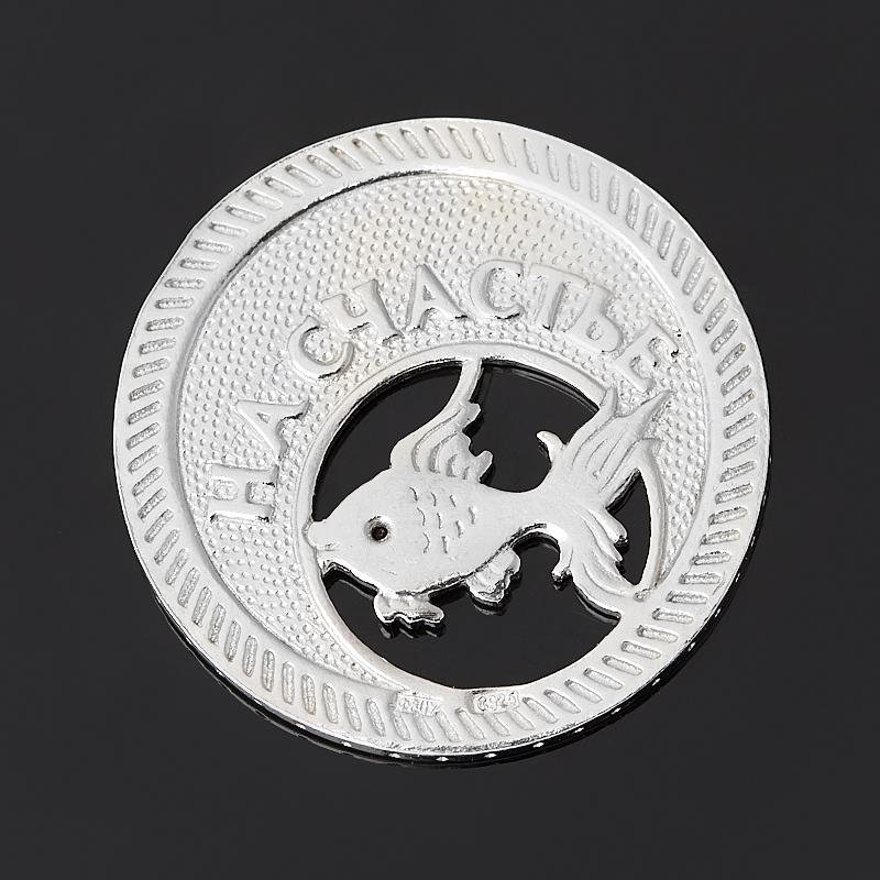 Денежный талисман рубин Мьянма (серебро 925 пр. родир. бел.) (монета)