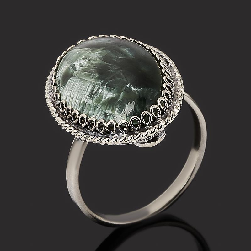 Кольцо клинохлор (серафинит) (нейзильбер) размер 17,5