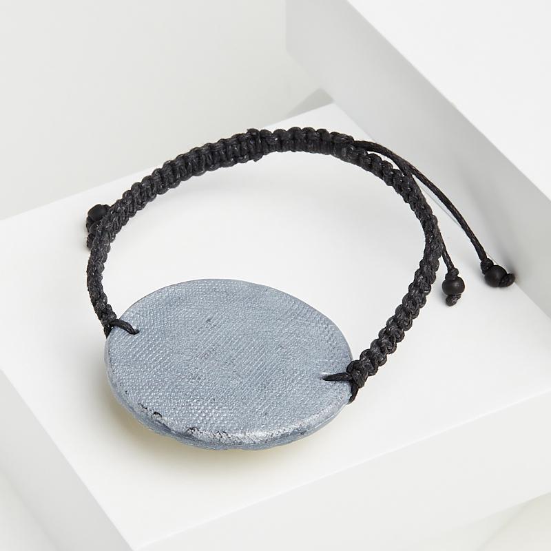 Браслет раухтопаз Бразилия (глина полимерная, текстиль) шамбала 16 см (регулируемый)
