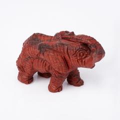 Слон яшма красная ЮАР 5,5 см