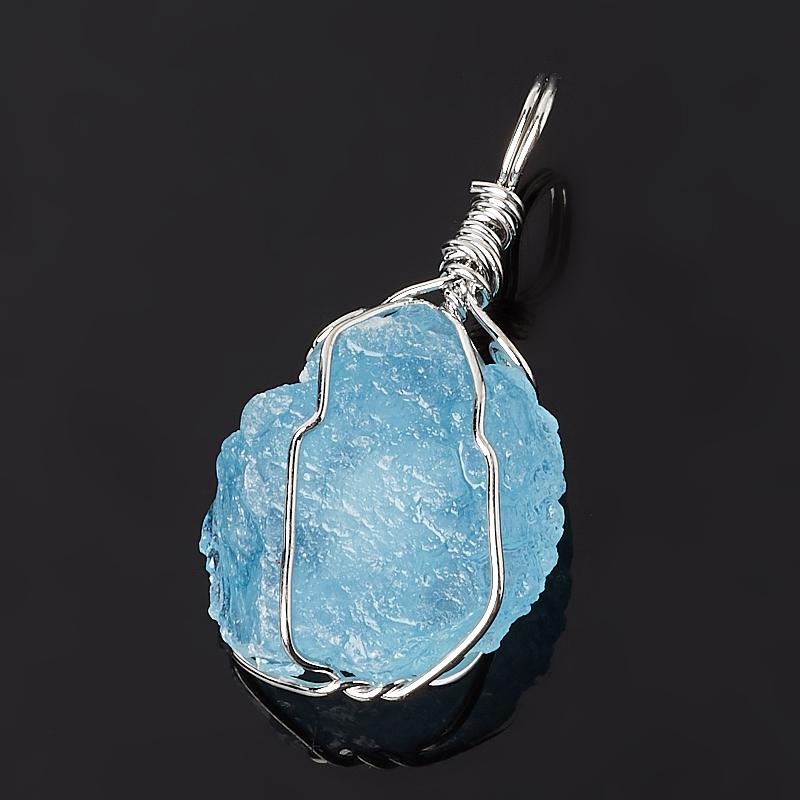 Кулон аквамарин Бразилия (биж. сплав) кристалл 4-5 см