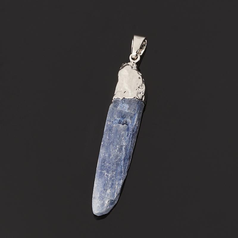 Кулон кианит синий Бразилия (биж. сплав) кристалл 5-6 см