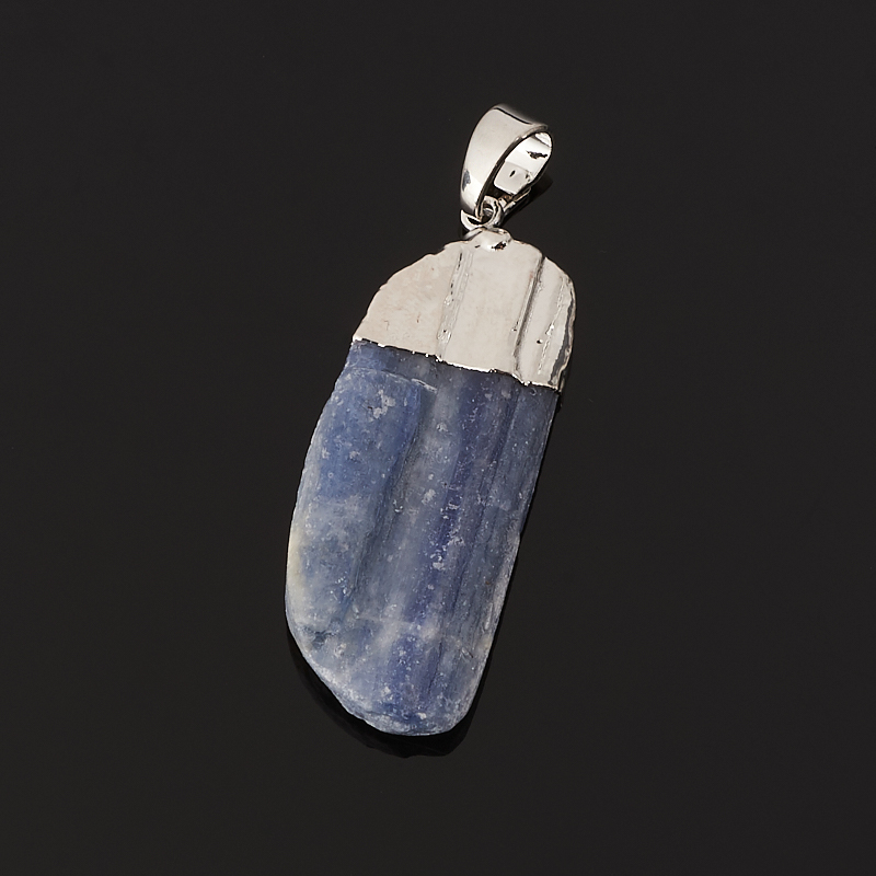Кулон кианит синий Бразилия (биж. сплав) кристалл 4-5 см