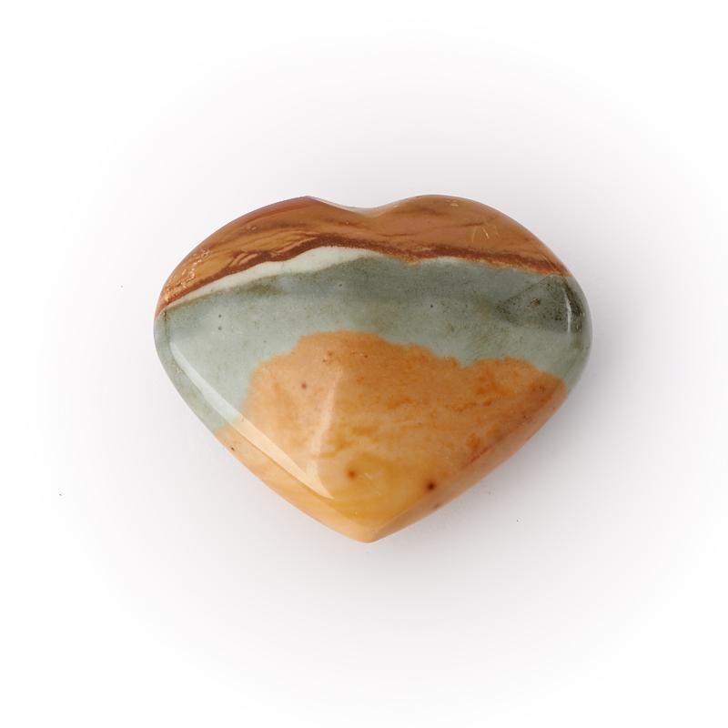 Сердечко яшма пестроцветная 3,5-4 см