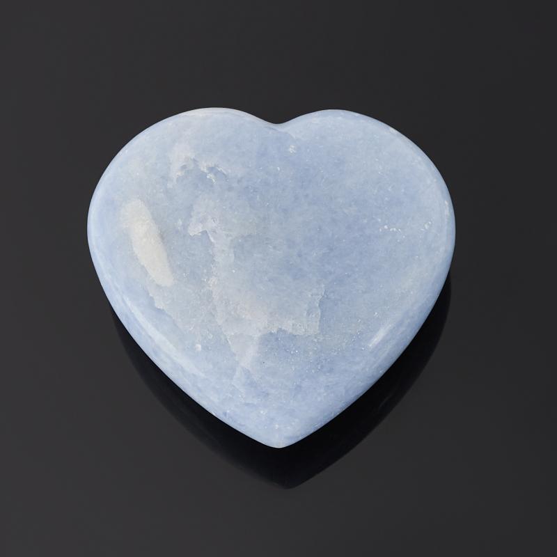 Сердечко кальцит голубой 8,5 см