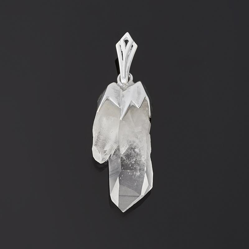 Кулон горный хрусталь (серебро 925 пр.)