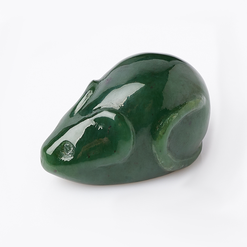 Мышка нефрит зеленый 3,5 см