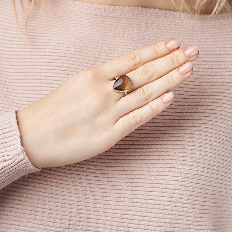 Кольцо аметрин Россия (нейзильбер) размер 18,5