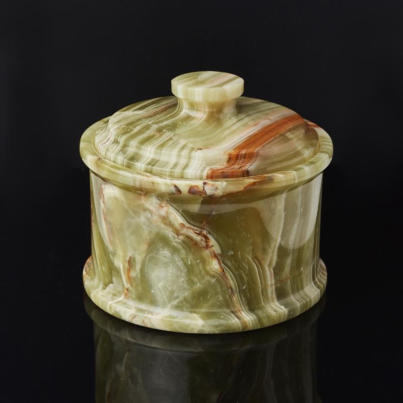 Посуда оникс мраморный (сахарница) 8,5х10 см