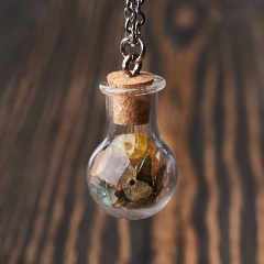 Кулон турмалин Бразилия (биж. сплав) бутылочка 2,5 см