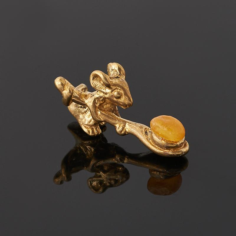 цены Денежный талисман янтарь (латунь) (мышь кошельковая) 2 см