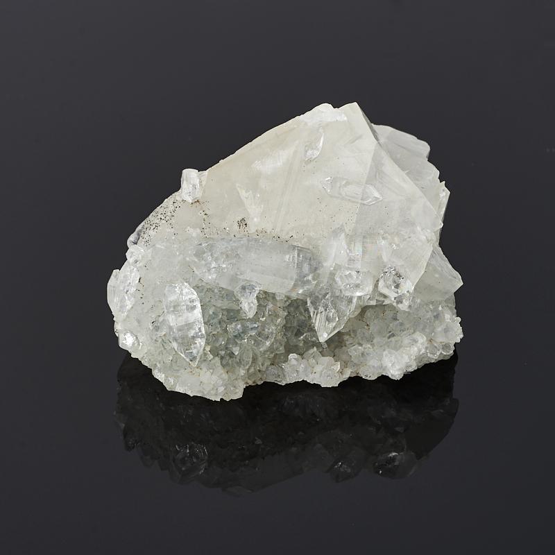 Друза микс апофиллит, кальцит S (4-7 см)