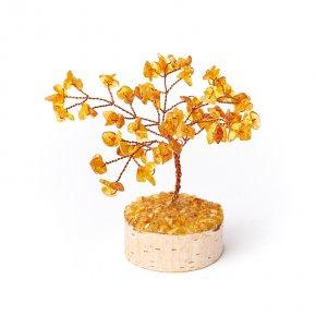 Дерево счастья янтарь Россия 12 см