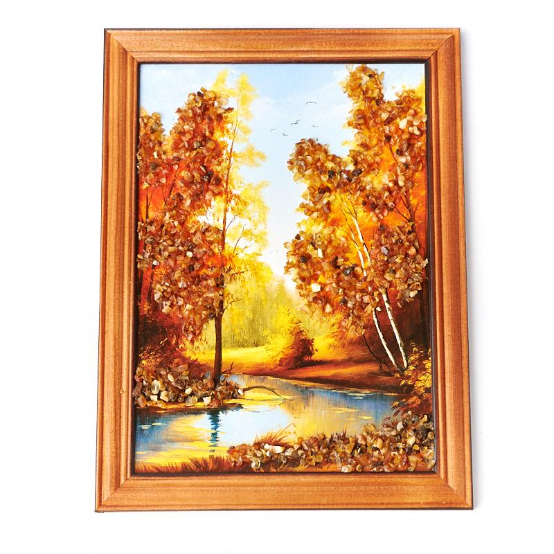 Картина Природа янтарь 17х23 см