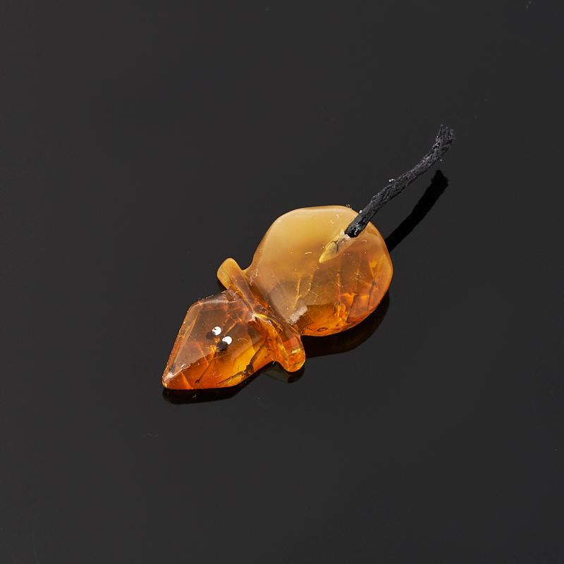 Денежный талисман янтарь (мышь кошельковая) 3,5 см