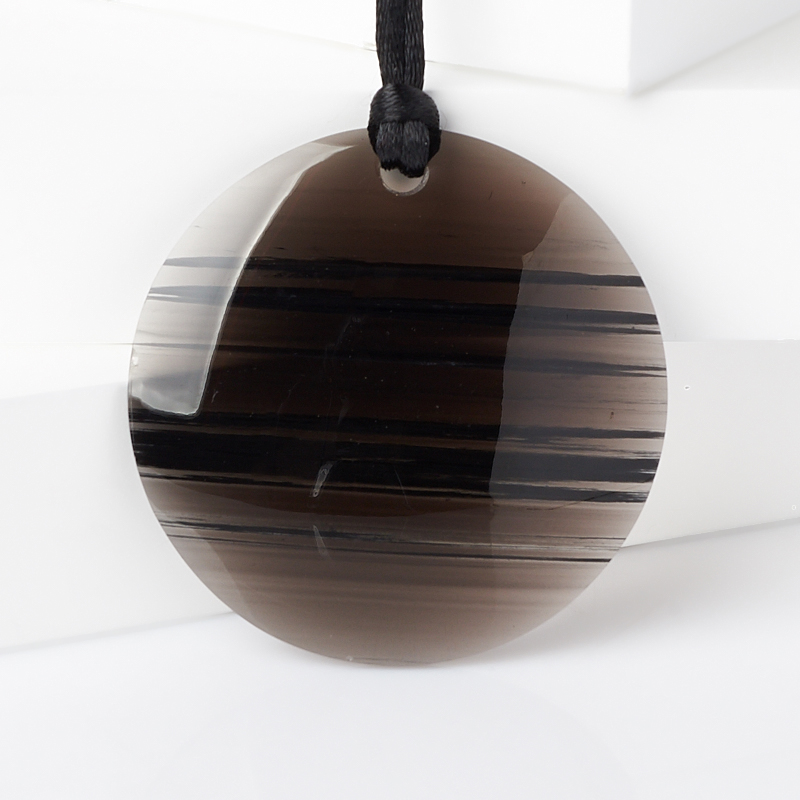 Кулон обсидиан прозрачный (текстиль) круг 5 см форма для льда best home kitchen рыбка 20 5 11 5 2 см
