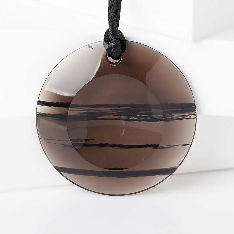 Кулон обсидиан прозрачный (текстиль) 5 см форма для льда best home kitchen рыбка 20 5 11 5 2 см