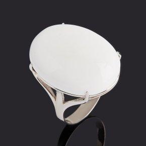 Кольцо кахолонг Казахстан (серебро 925 пр. родир. бел.) размер 19