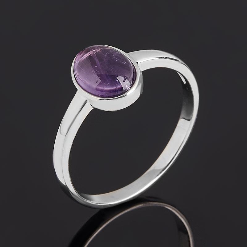 Кольцо аметист (серебро 925 пр. родир. бел.) размер 17 кольцо содалит серебро 925 пр регулируемый размер 17 5