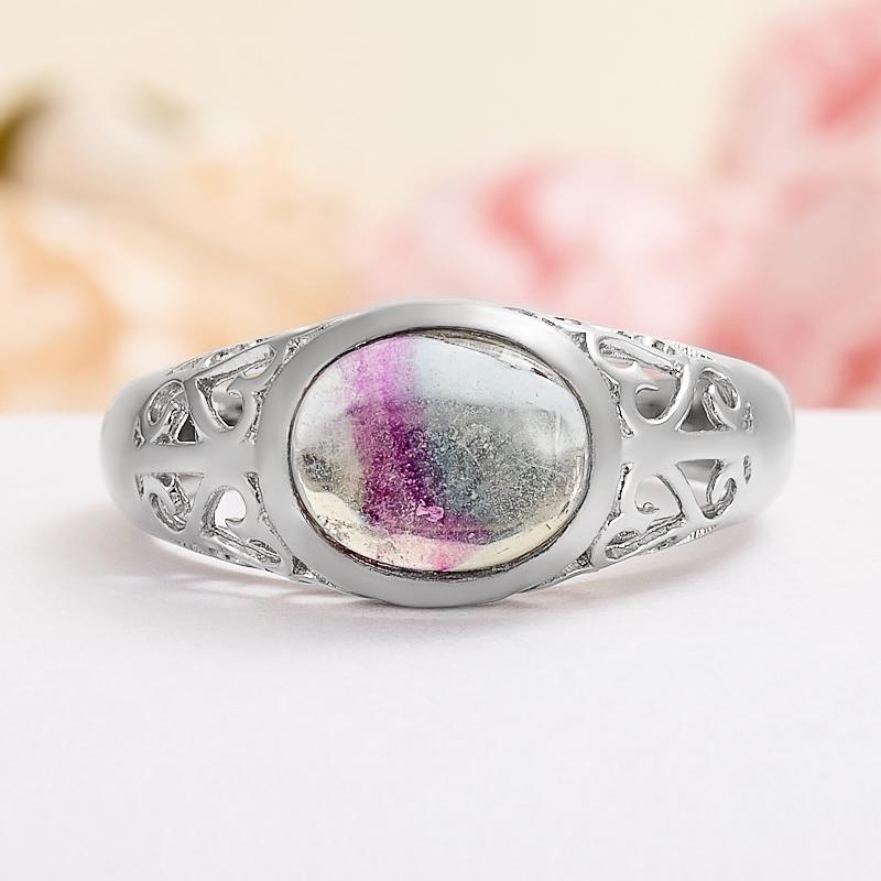 Кольцо флюорит (серебро 925 пр.) размер 20 кольцо авантюрин зеленый серебро 925 пр размер 18