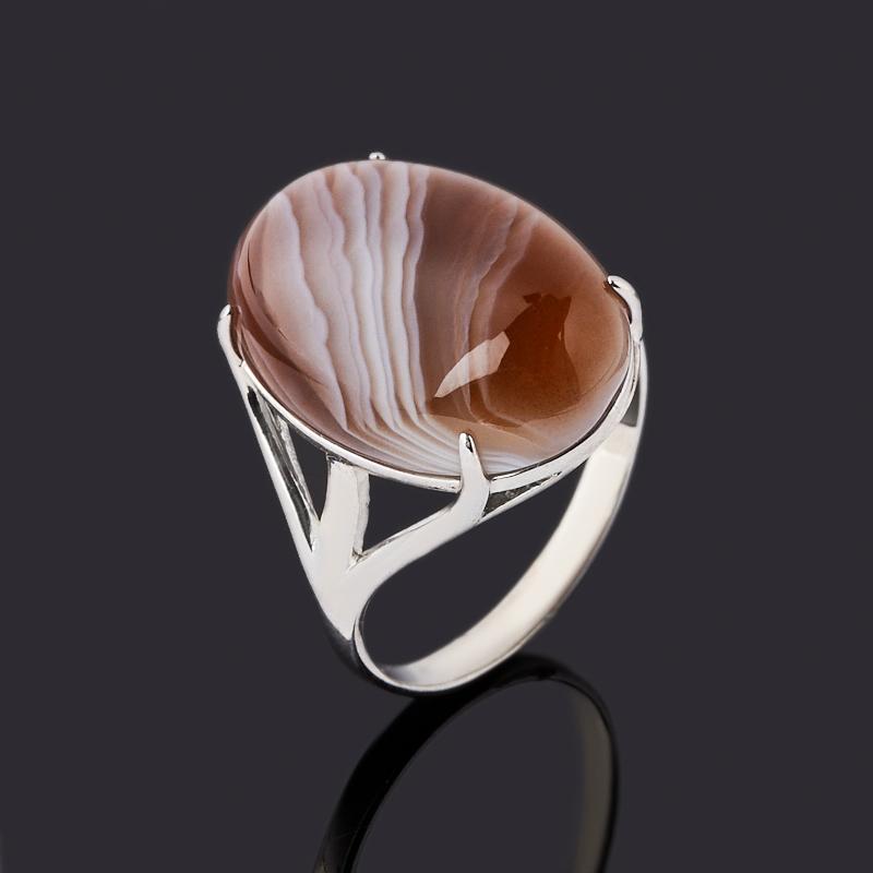Кольцо агат серый (серебро 925 пр. родир. бел.) размер 17 кольцо содалит серебро 925 пр регулируемый размер 17 5