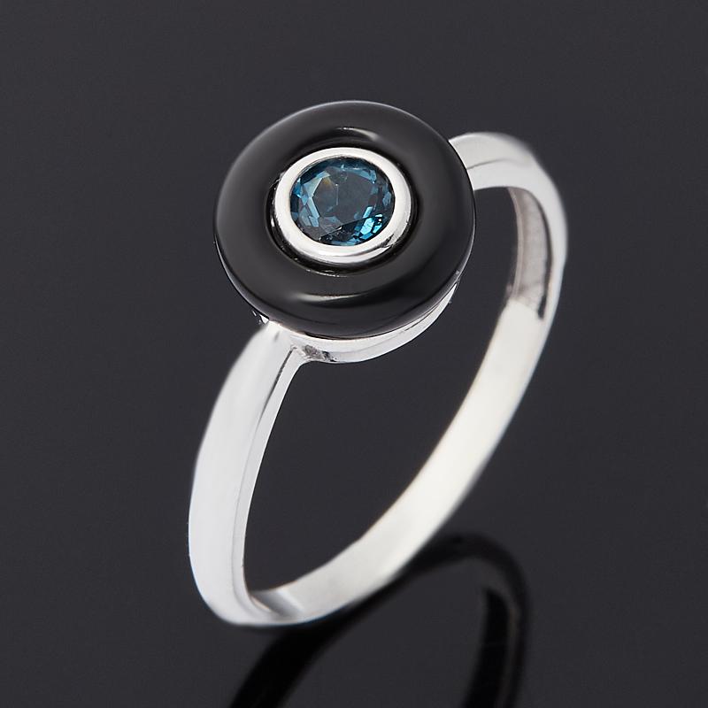 Кольцо топаз лондон (серебро 925 пр. родир. бел.) огранка размер 17,5 коюз топаз кольцо т900011471