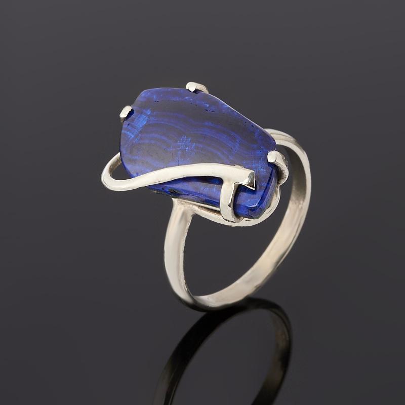 Кольцо азурит (дублет) (нейзильбер) размер 18,5