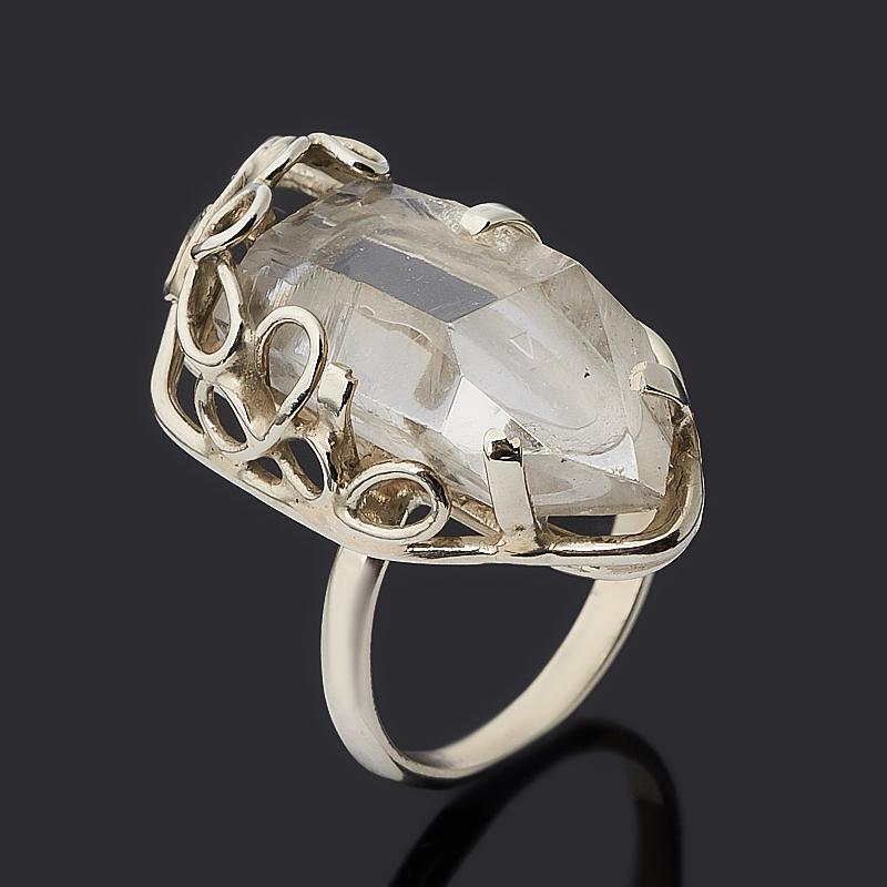 Кольцо горный хрусталь (нейзильбер) огранка размер 17,5