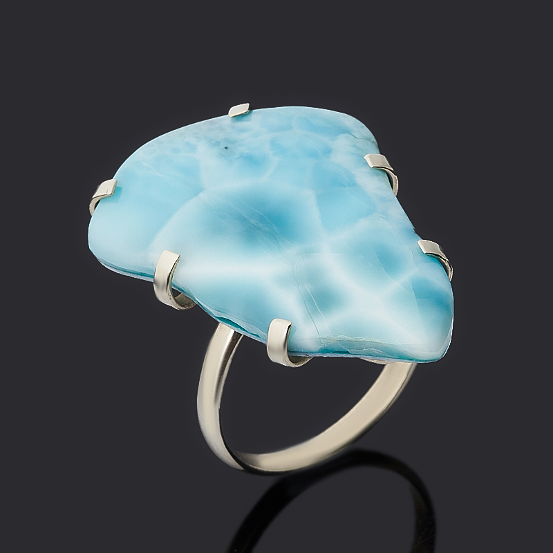 Кольцо ларимар (дублет) нская Республика (нейзильбер) размер 19
