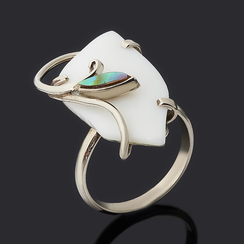 Кольцо кахолонг (дублет) (нейзильбер) размер 17