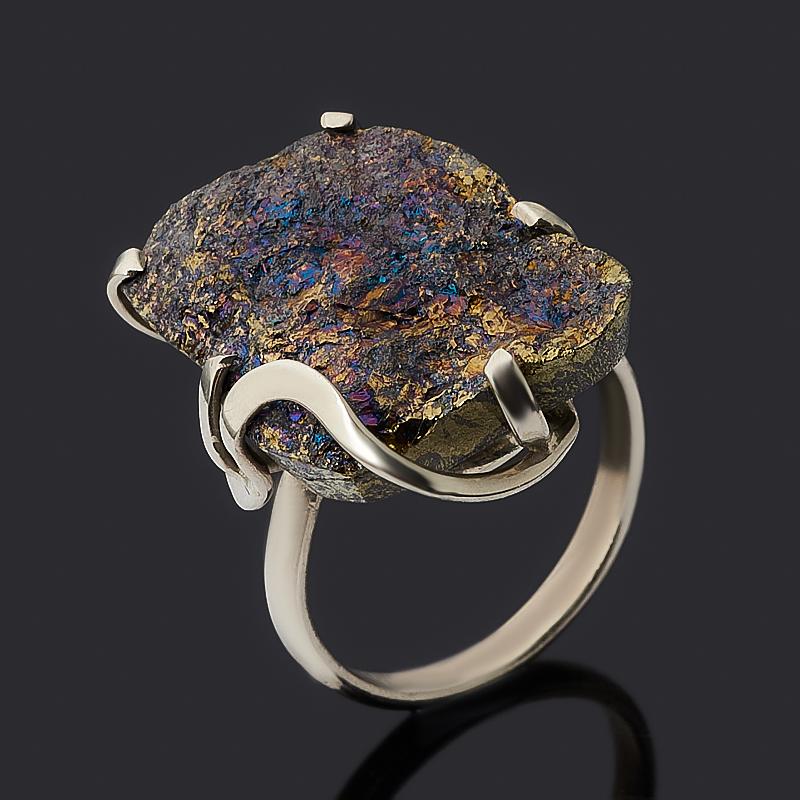 Кольцо халькопирит (дублет) (нейзильбер) размер 18 фото
