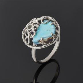 Кольцо бирюза Казахстан (нейзильбер) размер 17