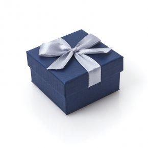Подарочная упаковка (картон, текстиль) под комплект (кольцо, серьги, кулон) (коробка) (микс) 55х55х35 мм
