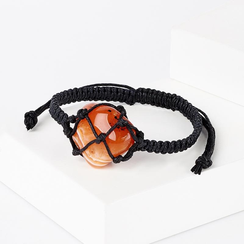 Браслет сердолик шамбала 17 см (регулируемый) (текстиль) браслет сердолик 17 см
