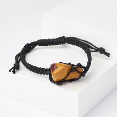 Браслет яшма мукаит Австралия (текстиль) шамбала 16 см (регулируемый)