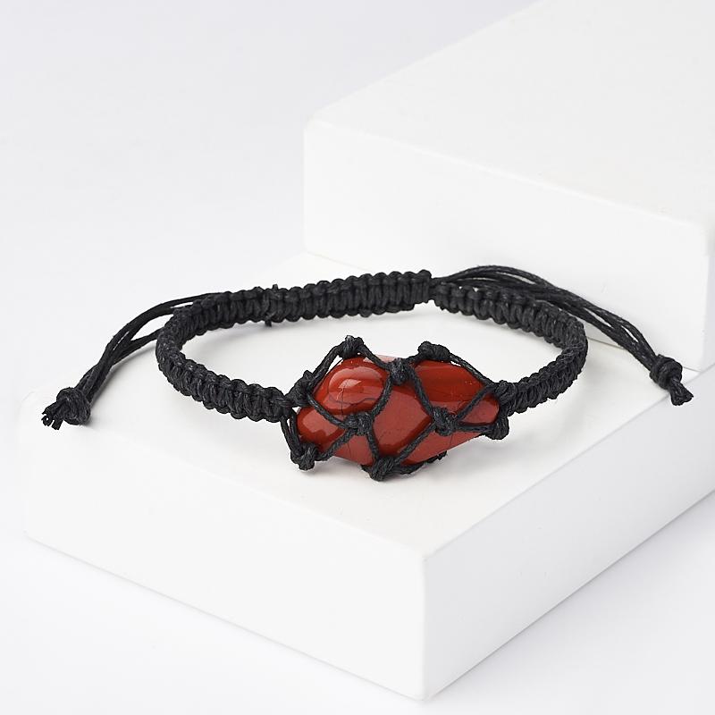 Браслет яшма красная (текстиль) шамбала 17 см (регулируемый) браслет яшма мукаит текстиль шамбала 16 см регулируемый