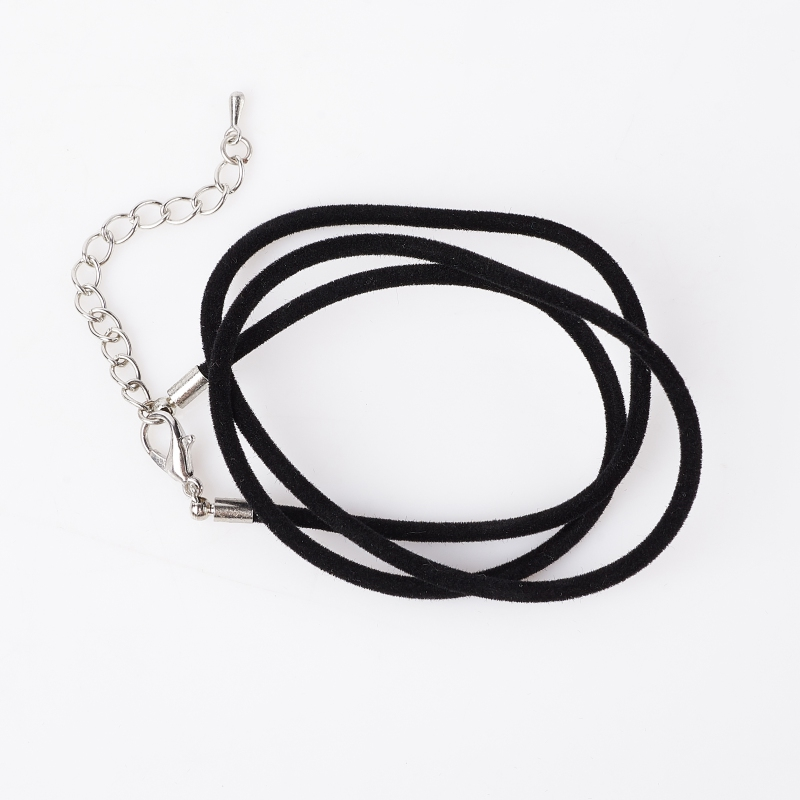 Шнурок (черный) 47 см (+5 см) (бархат)