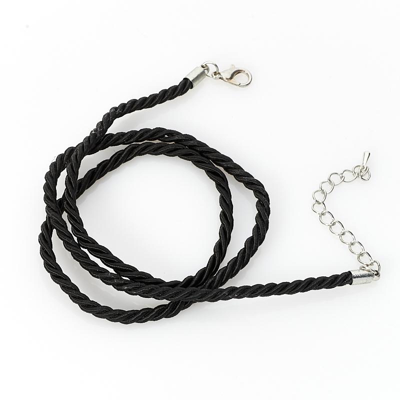 Шнурок (текстиль) (черный) 44 см (+4 см)