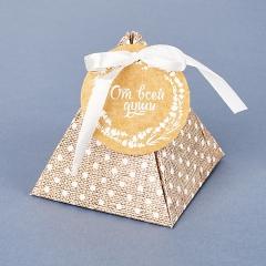 Подарочная упаковка (картон) универсальная (коробка) (микс) 75х72х72 мм