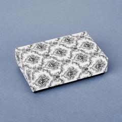 Подарочная упаковка (картон) под комплект (цепь, кольцо, серьги) (коробка) (микс) 80х50х20 мм