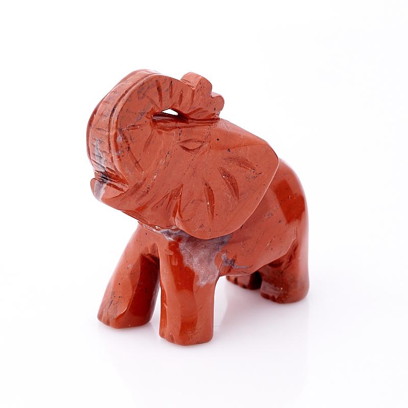 Слон яшма красная ЮАР 5 см