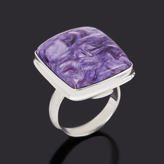 Кольцо чароит (серебро 925 пр.) размер 18 кольцо чароит серебро 925 пр оксидир размер 18