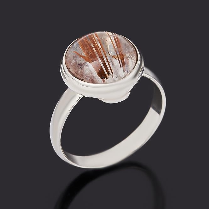 Кольцо рутиловый кварц (серебро 925 пр.) размер 16,5