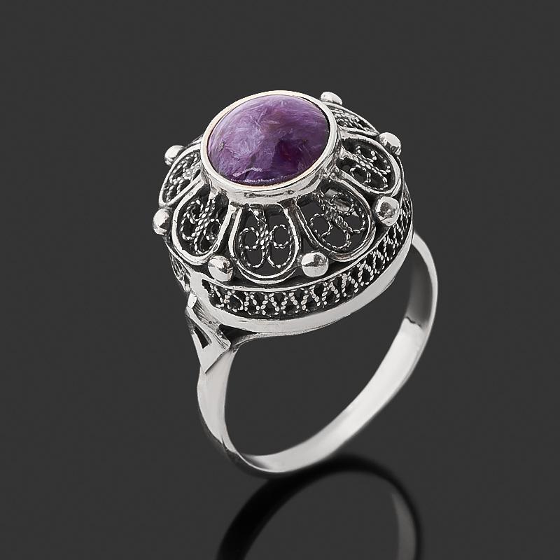 Кольцо чароит (серебро 925 пр. оксидир.) размер 18,5 кольцо чароит серебро 925 пр оксидир размер 18