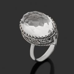 Кольцо горный хрусталь Бразилия (серебро 925 пр.) огранка размер 17,5
