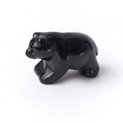 Медведь обсидиан черный Мексика 5 см