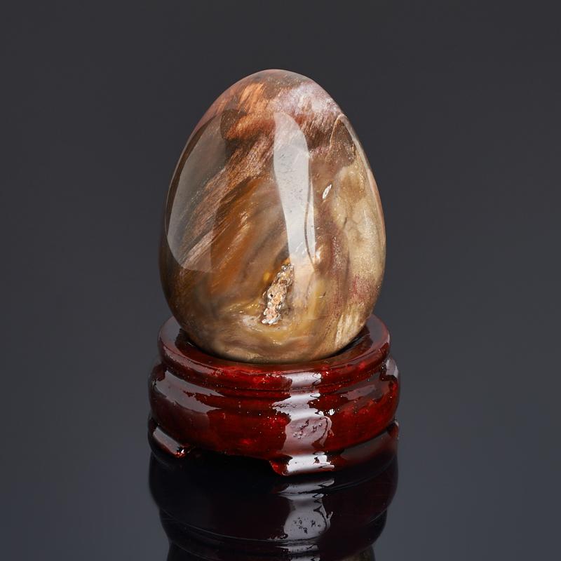 Яйцо окаменелое дерево (на подставке) 6,5 см яйцо декоративное бтм владимирская 4 на подставке