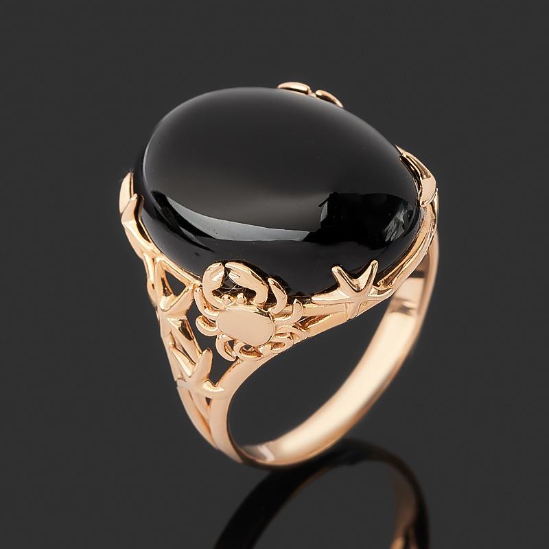 Кольцо агат черный (серебро 925 пр. позолота) размер 18,5 серьги агат серебро 925 пр позолота